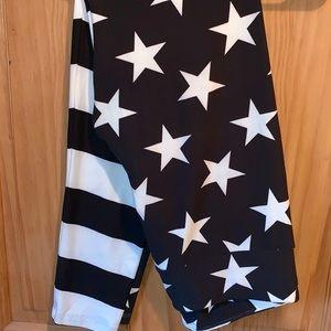 NWT TC LLR B&W Stars & Stripes Americana Leggings